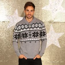 MEN'S SHAWL COLLAR KNITTED JUMPER